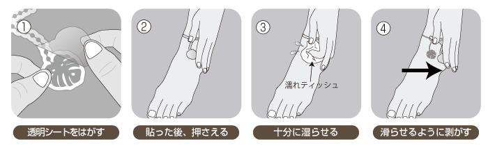 簡単に貼れるタトゥーシール