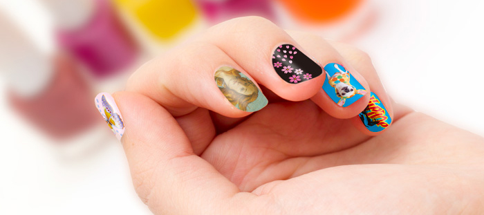 Water transfer Nail sticker