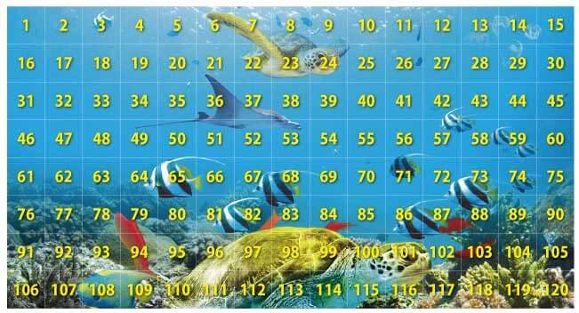 120のピースに分割した画像。横方向1〜15、16〜30、31〜45、46〜60、61〜75、76〜90、91〜105、106〜120は一枚の画像となっています。